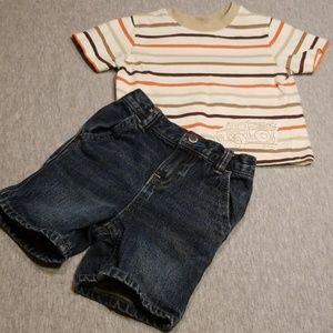 Size 12 Month Koala Kids Shirt & OshKosh Shorts